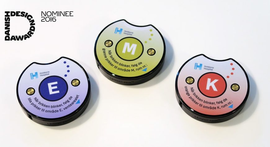 The buzzer for the SafeBuzz solution that was nominated for a design award