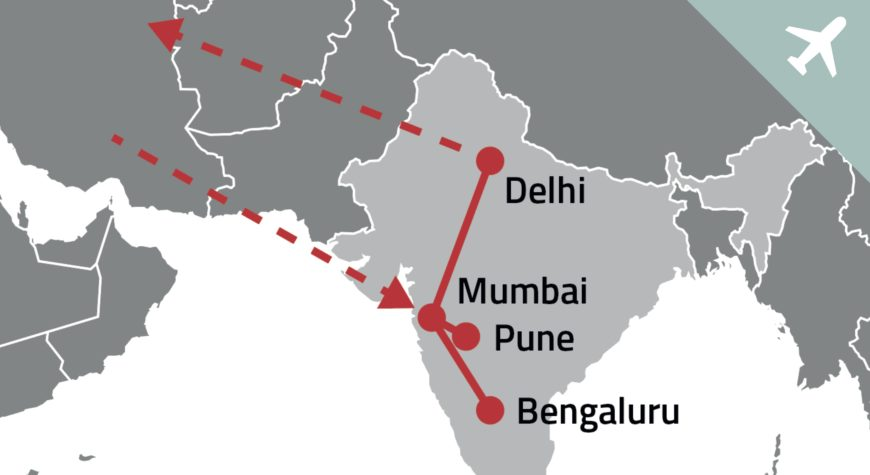Triagonal traveling to India where we will design wayfinding for the new Navi Mumbai Airport
