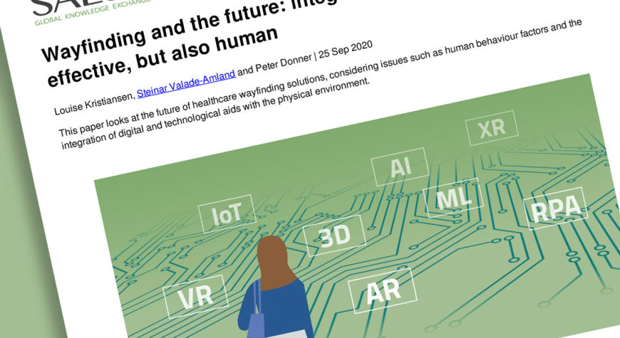 "Frontpage of the article ""wayfinding and the future""."